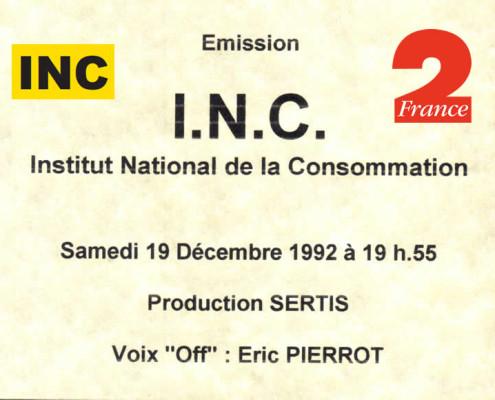 France 2 - I.N.C. - 19 décembre 1992