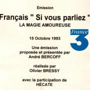 France 3 - 15 octobre 1993