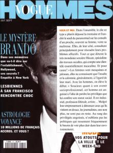 Vogue Homme - Septembre 1994