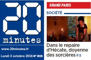 Journal 20 Minutes - 3 octobre 2016