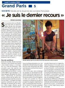 Hécate est la doyenne des sorcières françaises « Je suis le dernier recours »