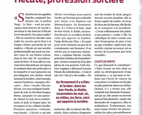 Le Point - Hécate, profession sorcière